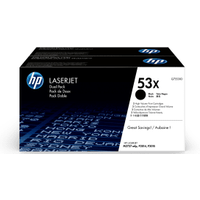 HP 53X ( Q7553XD ) Original High Yield Black Toner Cartridge Twinpack