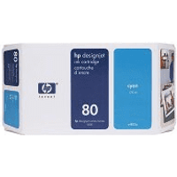 HP 80 ( C4872A ) Original Cyan Ink Cartridge