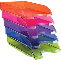 Image of Happy by CEP Letter Tray Multicoloured (Pack of 5) 200+*5 Happy