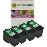 Lexmark 1 / 18C0781 x 4 Compatible Colour Ink Cartridges