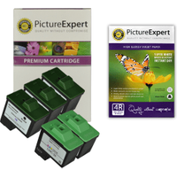 Lexmark 16 / 10N0016 x 3 & 26 / 10N0026 x 2 Compatible Black & Colour Ink Cartridge 5 Pack with Photo Paper