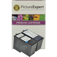 Lexmark 23 / 18C1523E & 24/ 18C1524E Compatible Black & Colour Ink Cartridge Pack