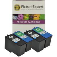 Lexmark 4 / 5 18C1974 / 18C1960 Compatible Black & Colour Ink Cartridge 4 Pack