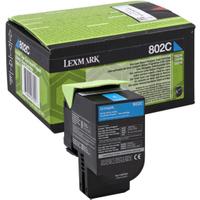 Lexmark 802C Cyan Toner Cartridge (Original)