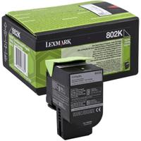 Lexmark 802K Black Toner Cartridge (Original)