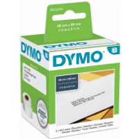 Original Dymo 99010, S0722370 Address Labels 89mm x 28mm Twinpack (2 x 130 Labels)