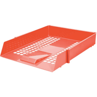 Red Plastic Letter Tray