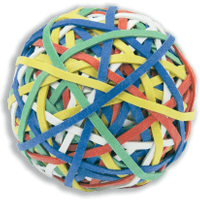 Rubber Band Ball Assorted Colours (200 Bands)