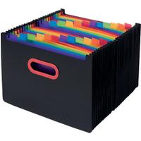 Image of Snopake 24 Part Desk Expander A4 Rainbow/Black 15852