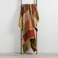 Thermosoft Checked Blanket Brown / Blue / Red