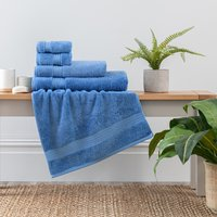 Cornflower Egyptian Cotton Towel Cornflower (Blue)