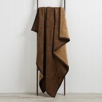 Thermosoft Chocolate Textures Blanket Chocolate (Brown)