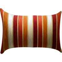 Large Veluto Terracotta Striped Cushion Terracotta