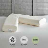 Memory Foam V-Shaped Firm-Support Pillow White