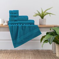 Teal Egyptian Cotton Towel Teal (Blue)