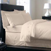 Dorma 350 Thread Count 100% Cotton Satin Plain Dye Cream Duvet Cover Cream