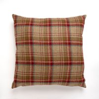 Tweed Woven Cushion Red / Brown
