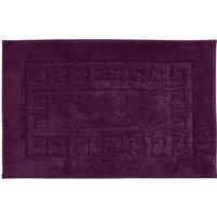 Luxury Cotton Non-Slip Bath Mat Dark Purple