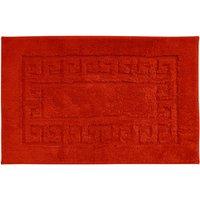 Luxury Cotton Non-Slip Bath Mat Red