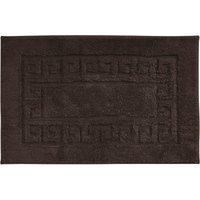 Luxury Cotton Non-Slip Bath Mat Chocolate Brown