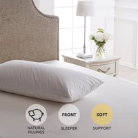 Dorma Hungarian Goose Down Soft-Support Pillow White