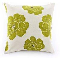 Large Monet Cushion Green