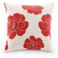 Large Monet Cushion Red