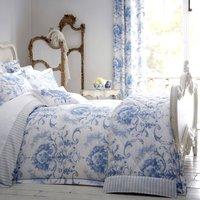 Dorma Toile 100% Cotton Blue Duvet Cover Blue / White