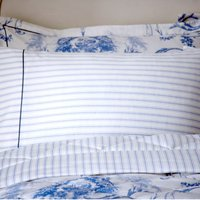 Dorma Toile Blue Cuffed Pillowcase Blue / White