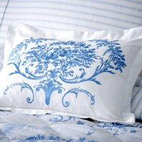Dorma Toile Blue Cushion Blue / White