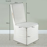 Pack of 2 Faux Silk Chair Covers White