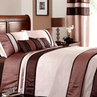 Manhattan Embroidered Mocha Duvet Cover Brown / Mocha