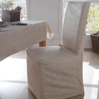 Polylinen Pack of 2 Chair Covers Light Brown / Natural