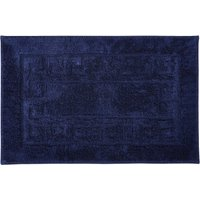 Luxury Cotton Non-Slip Bath Mat Dark Blue