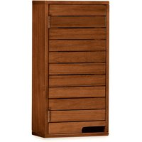 Dunelm Marseille Acacia Slatted Wall Unit Brown / Mocha