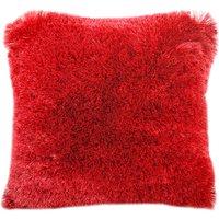 Fine Furry Cushion Dark Red