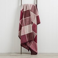 Check Blanket Dark Purple