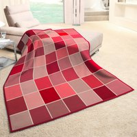 Check Blanket Red