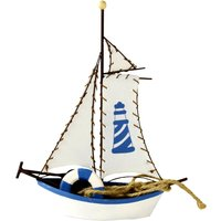 Nautical Large Decorative Boat Blue / Red