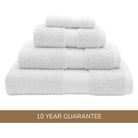 Dorma Snow Silk Blend Towel Snow (White)
