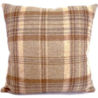 Large Tweed Cushion Light Brown / Natural
