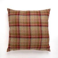 Large Tweed Cushion Red / Brown