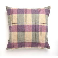 Large Tweed Cushion Lilac