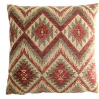 Large Tonto Wine Cushion Cover Dark Red
