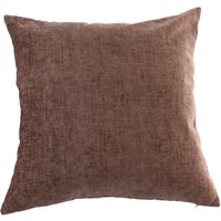 Large Chenille Chocolate Cushion Chocolate (Brown)