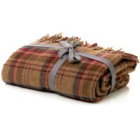 Checked Tweed Throw Red