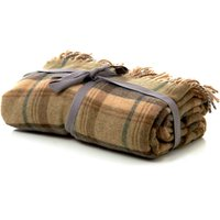 Checked Tweed Throw Green