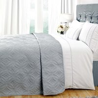 Evangeline Grey Bedspread Grey / White