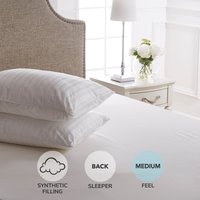 Dorma Supreme Fill Medium-Support Pillow Pair White
