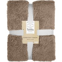 Teddy Bear Throw Taupe